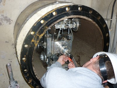 Visual inspection of pipe interiors in pipeline systems in two German nuclear power stations