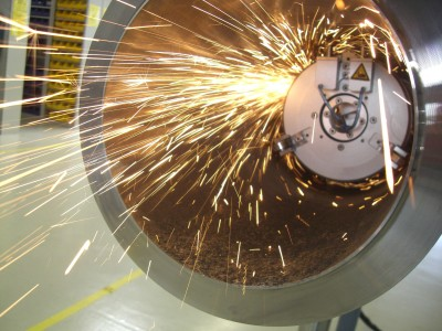 Internal grinding of offshoere welding seams